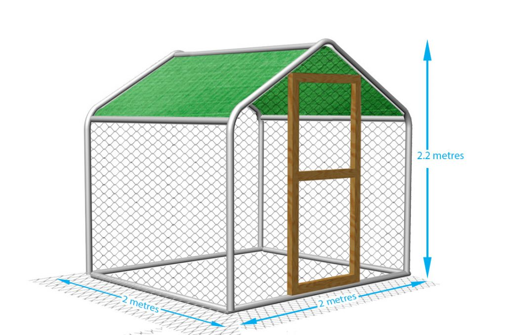 Chicken pen, walk in style, steel frame. Ideal chicken run for the garden.
