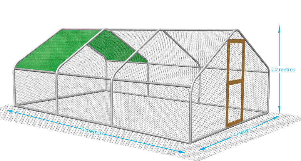 Keep your chickens safe with a fox proof chicken pen.