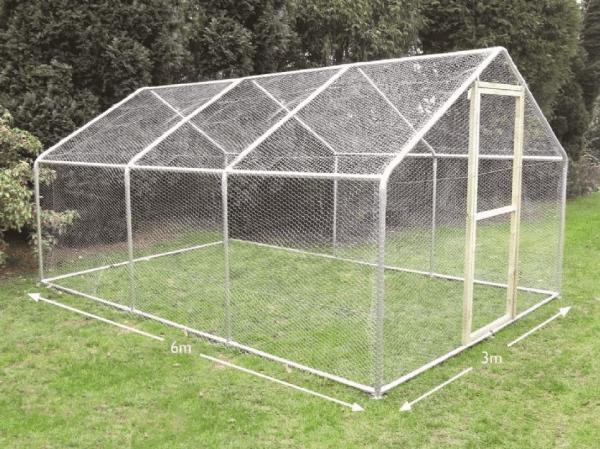 garden chicken run 3 metre x 6 metre