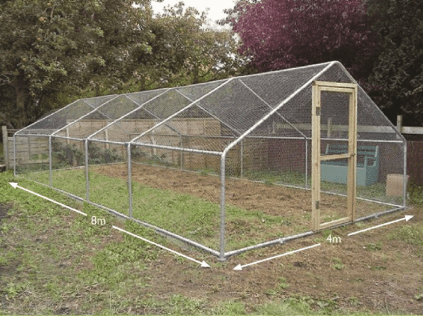 garden chicken run large 4 metre x 8 metre