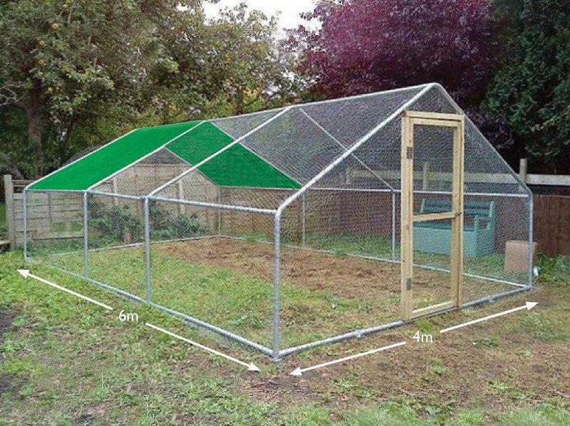 Chicken run cover 4 x 6 metres 1 bay