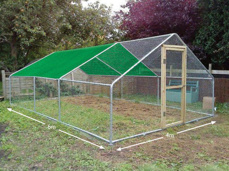 Chicken run cover 4 x 6 metres 2 bay