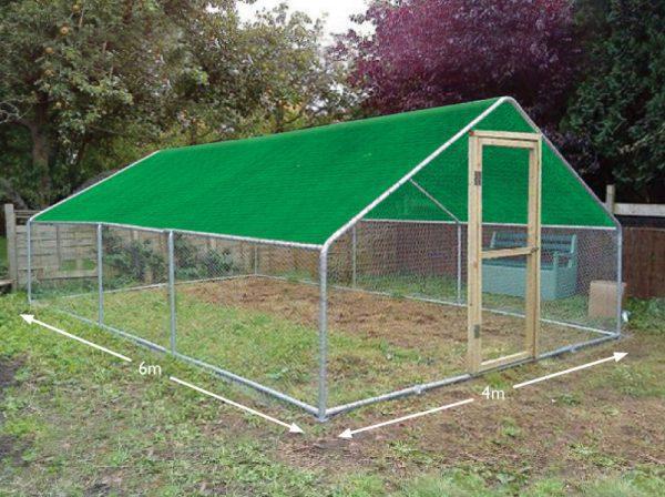 Chicken run cover 4 x 6 metres 3 bay