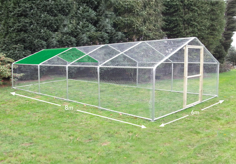 chicken run cover 6 x 8 metres 1 bay