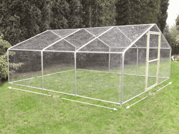 large garden chicken run 6 metre x 6 metre