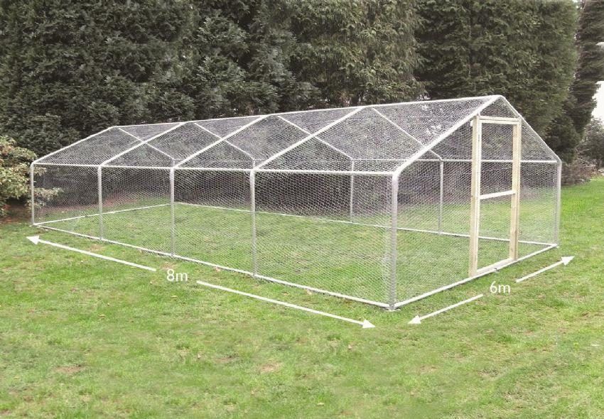 garden chicken run 6 metre x 8 metre