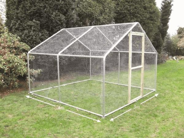 garden chicken run medium 3 metre x 4 metre