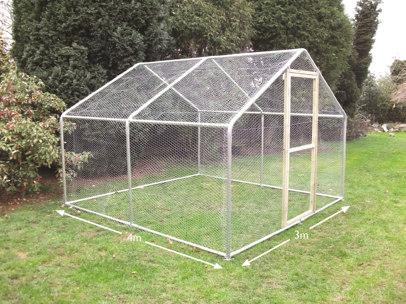 Chicken Run Steel Frame Walk-in