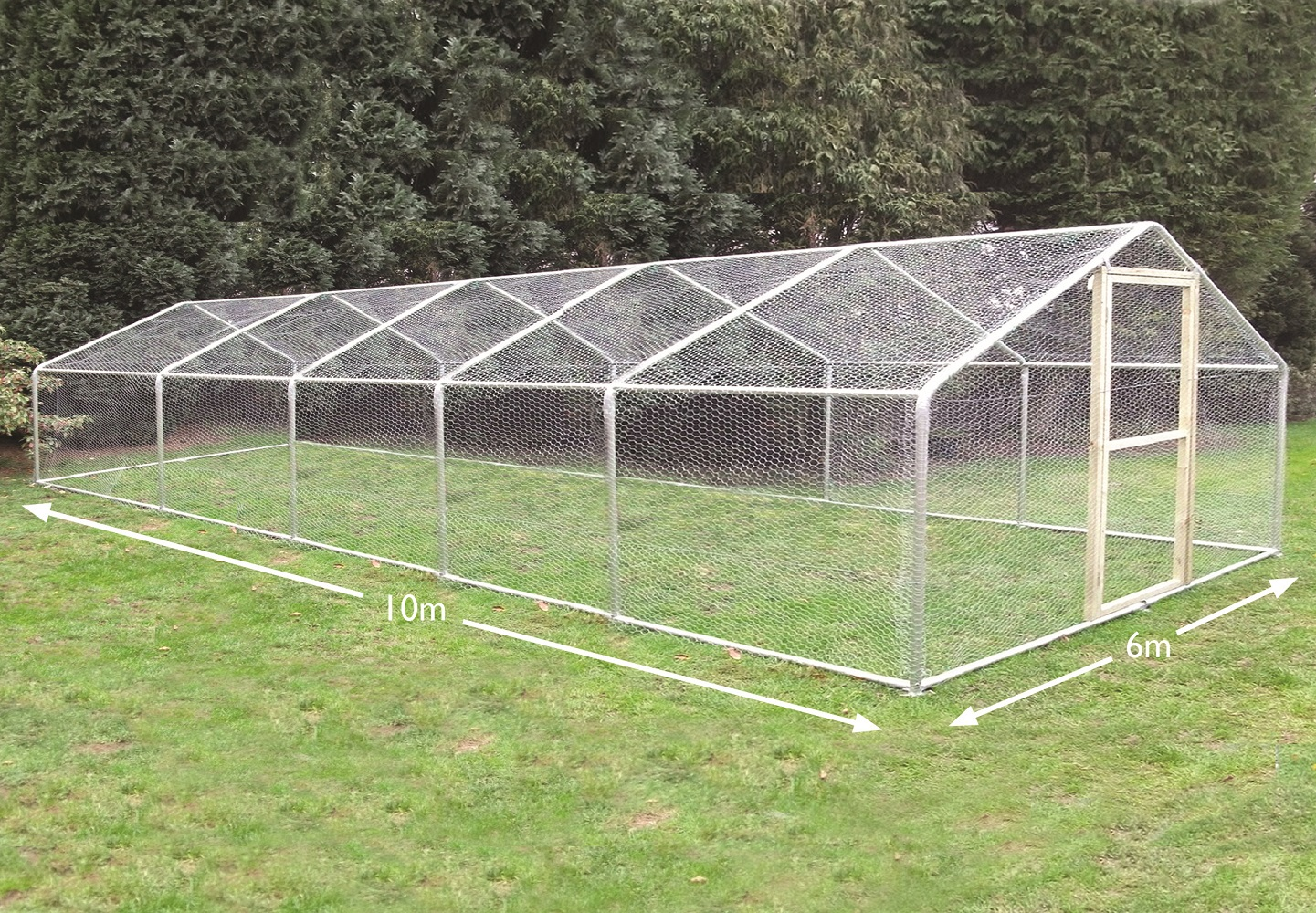 Chicken Runs Large Size 6m x 10m
