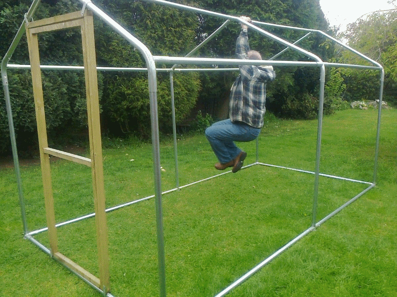 steel frame chicken run