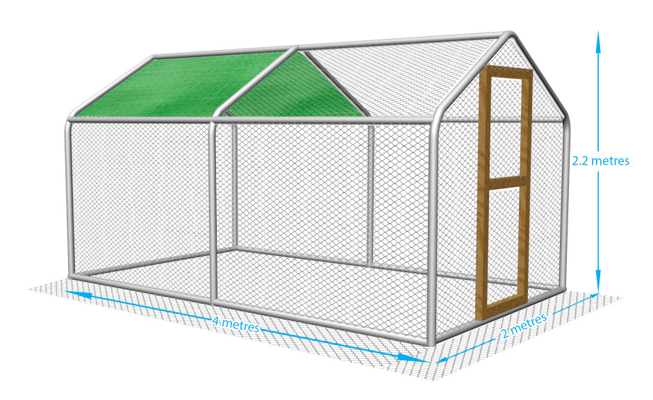 Chicken run for the garden. Keep your chickens safe in this fox proof pen.