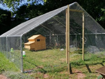 Customer picture of a completed chicken run